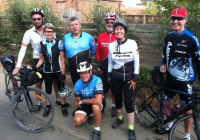 Members of the Melbourne Bike Group who have been riding at the Great Victorian Rail Trail