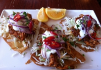 Chicken Tinga for lunch at the Delatite Hotel, Mansfield