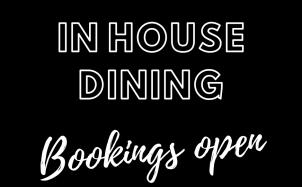 Bookings Open
