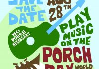 Play music on the porch
